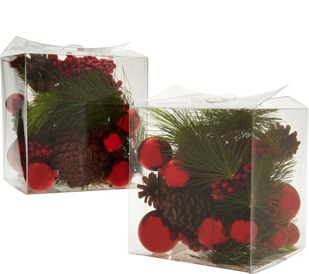 Set of 2 Decorative Mixed Filler Boxes by Valerie