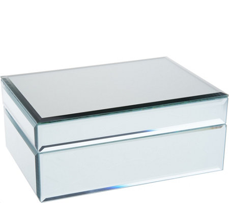 Mirrored Treasure Keepsake Box w/ Beveled Edges by Valerie