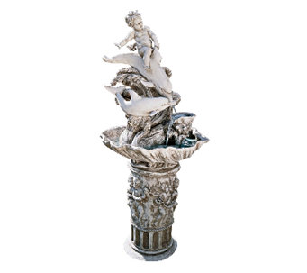 Design Toscano Young Poseidon Garden Fountain With Pump - H282683