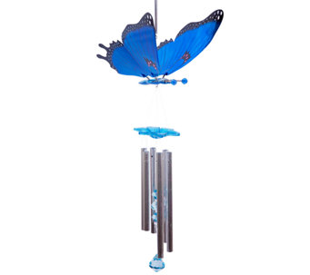 Exhart Large WindyWings Butterfly Wind Chime - H284283