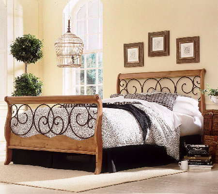 Dunhill Autumn Honey Oak King Bed