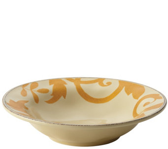 Rachael Ray Goldtone Scroll 10-Inch Round Serving Bowl - H288283