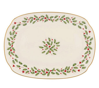 "Lenox Holiday Oblong 12-1/4"" Platter - H363883"