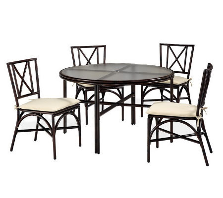 "Home Styles Outdoor Bimini Jim 5-Piece 48"" Dining Set"