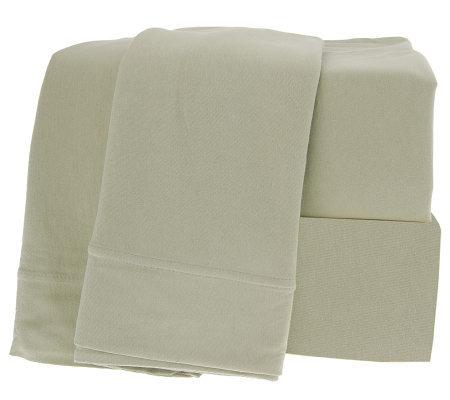 northern nights egyptian cotton jersey knit king size sheet set