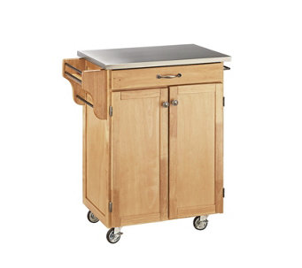 Home Styles Cuisine Cart Natural Finish StainleSteel Top - H127284