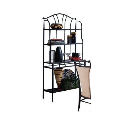 Hillsdale Furniture Mix 'n' Match Baker's Rack-Black