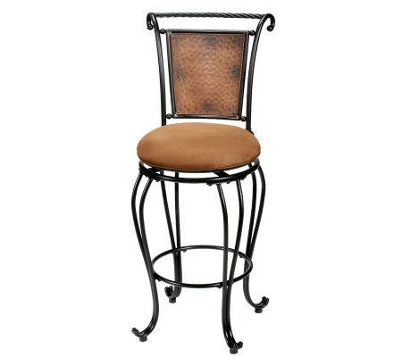 Hillsdale Furniture Milan Swivel Bar Stool Page 1 Qvc Com