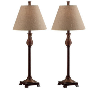 Kenroy Home Set of 2 Santiago Buffet Lamps - H154584