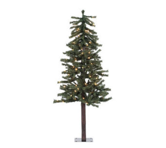 48 Prelit Natural Alpine Tree w/ Clear Lights by Vickerman - H155284