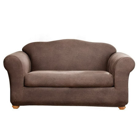 Sure Fit Stretch Faux-Leather Two-Piece Sofa Slipcover