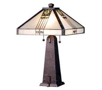 "Tiffany Style 23""H Pasadena Rose Table Lamp - H181284"