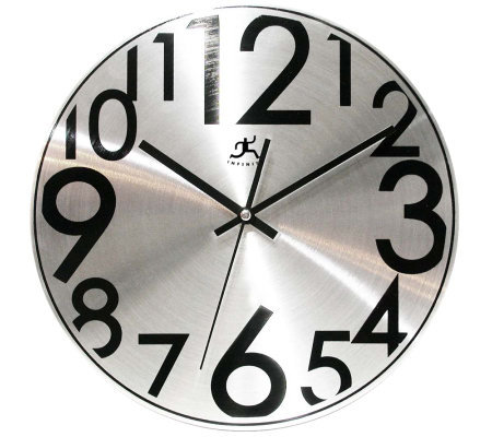 Silver Twinkle Metal Wall Clock