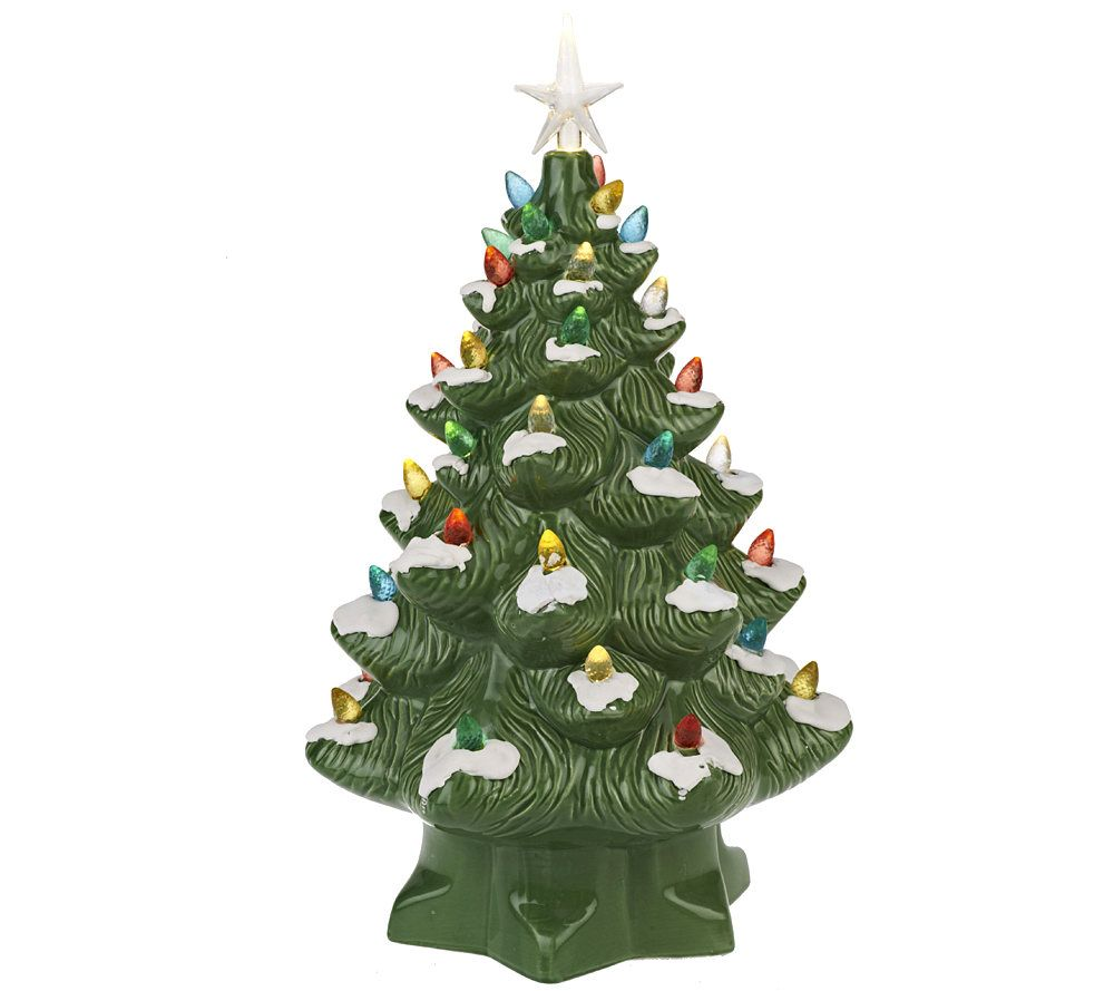 Illuminated Battery Op. Porcelain Nostalgic Christmas Tree - Page ...