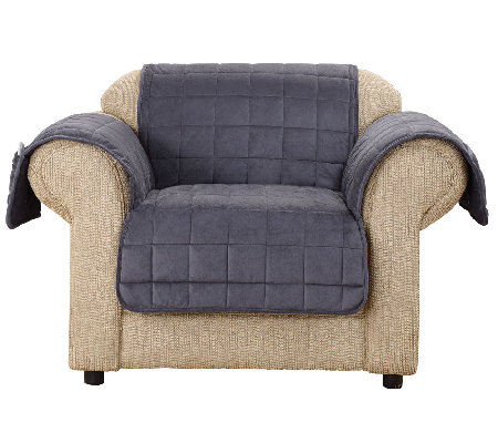 sure fit deluxe comfort chair furniture cover w nonskid