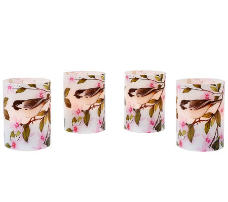 Set of 4 Flameless Candle Votives by Valerie