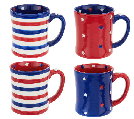 Temp-tations S/4 16 oz. Red, White, & Blue Mugs