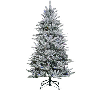 Santa's Best 6.5' Snow Flurry Tree with 7 Function LED Lights - H205684