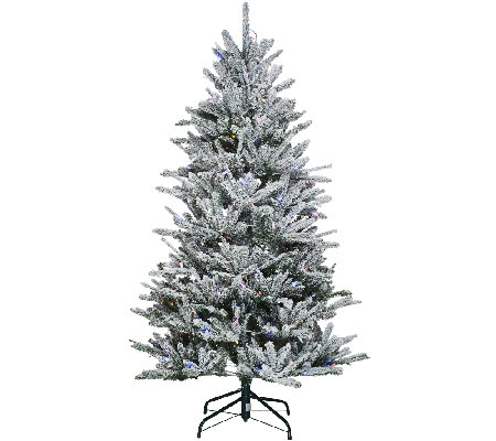Santa's Best 6.5' Snow Flurry Tree with 7 Function LED Lights