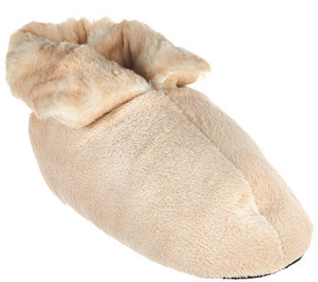 Dennis Basso Signature Faux Fur Slipper Booties