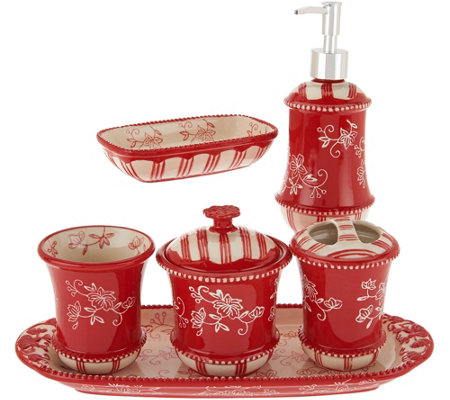 Temp-tations Floral Lace 6-piece Bath Set