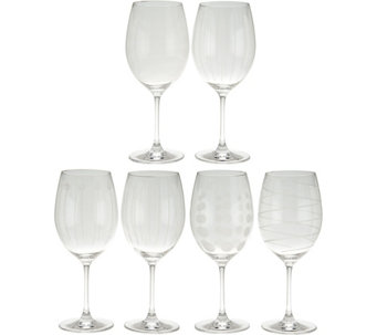 Cheers Set of 6 Red Wine Glasses by Mikasa - H209984