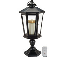 "Luminara 19"" Windsor Lantern with Pedestal & Flameless Candle - H210884"