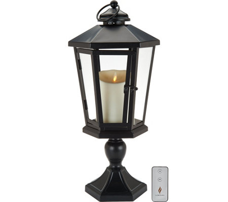 "Luminara 19"" Windsor Lantern with Pedestal & Flameless Candle"