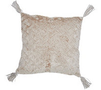 "Inspire Me! Home Decor Charlton Faux Fur S/2 24"" Pillows - H213184"