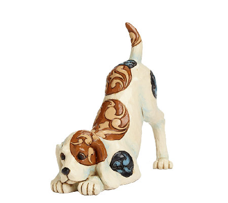 Jim Shore Heartwood Creek Dog Playing Figurine