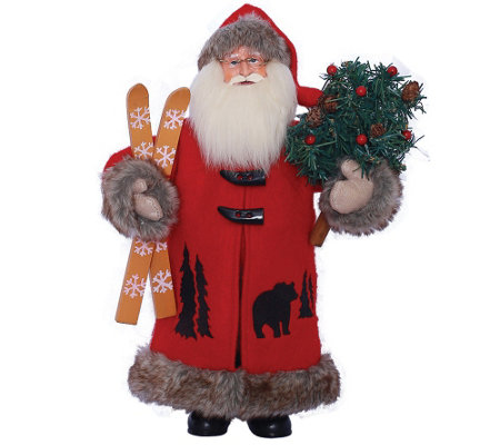 "15"" Black Bear Santa by Santa's Workshop"