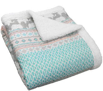 Elephant Stripe Sherpa Throw by Lush Decor - H290584