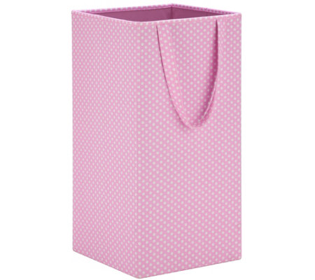 Honey-Can-Do Pink Rectangular Collapsible Laundry Hamper