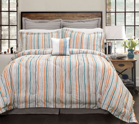 Abby 6-Piece King Comforter Set by Lush Decor