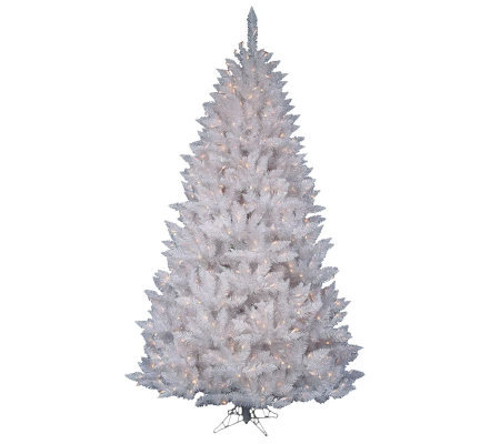 5-1/2' White Sparkle Spruce Tree w/ Clear Dura-Lit Lights