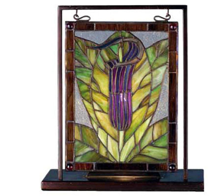 Meyda Tiffany-Style Jack-In-The-Pulpit Mini Window Display