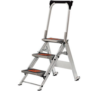 Little Giant Safety 3-Step Ladder No Rating 300 -lb Capacity - H139285
