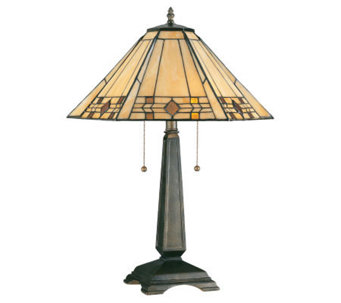 "Tiffany-Style 24"" Willow Table Lamp - H171185"