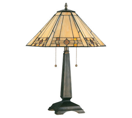 "Tiffany-Style 24"" Willow Table Lamp"