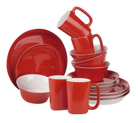 Rachael Ray Round & Square 16-piece Service for 4 Dinnerware Set