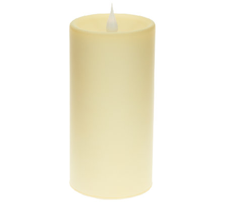 """As Is"" Solare 6"" Glass Flameless Candle w/ Multi Hue Technology"