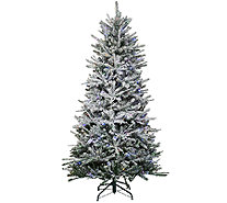 Santa's Best 7.5' Snow Flurry Tree with 7 Function LED Lights - H205685