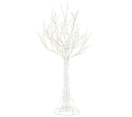 Santa's Best 7' All-Season Prelit White Wire Tree with RGB Technology