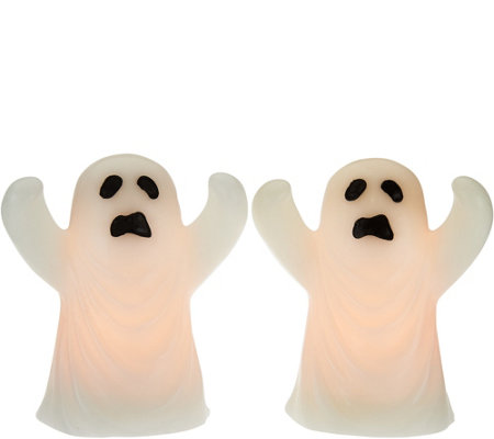 Set of 2 Lit Halloween Figures by Candle Impressions