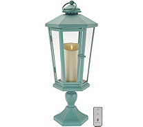 "Luminara 21"" Windsor Lantern with Pedestal & Flameless Candle - H210885"