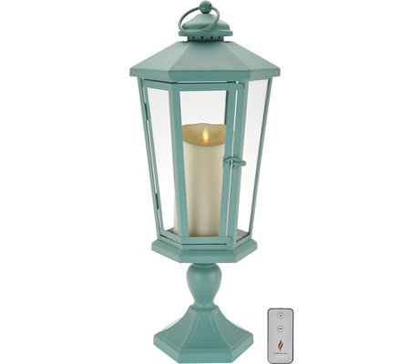 "Luminara 21"" Windsor Lantern with Pedestal & Flameless Candle"