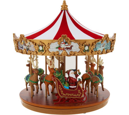 Mr.Christmas Very Merry Lit & Animated Classic Holiday Carousel