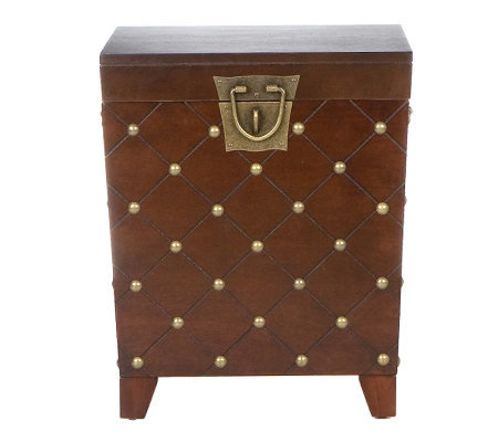 Bexar Espresso Nailhead End Table Trunk