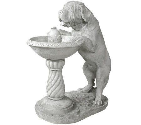 Design Toscano Thirsty Dog Garden Fountain withPump