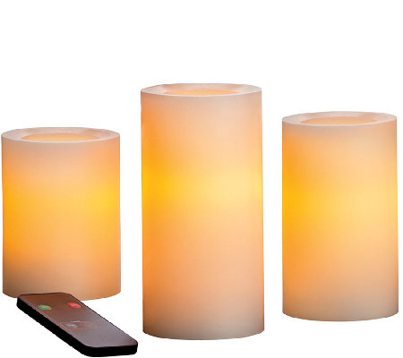 Candle Impressions S/3 Graduated Flameless Candles w/ Remote